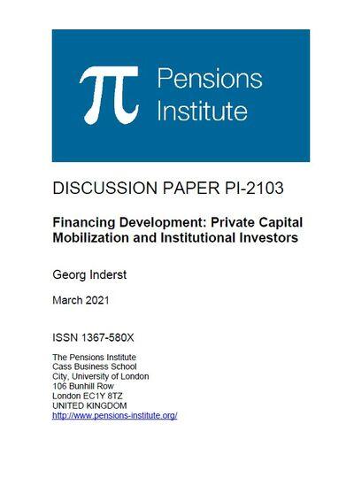 Финансирование развития - привлечение частного капитала и институциональных инвесторов