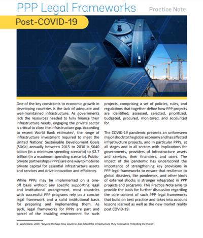 Правовые рамочные условия реализации проектов ГЧП после пандемии коронавируса