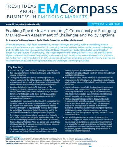 Стимулирование частных инвестиций в 5G на развивающихся рынках